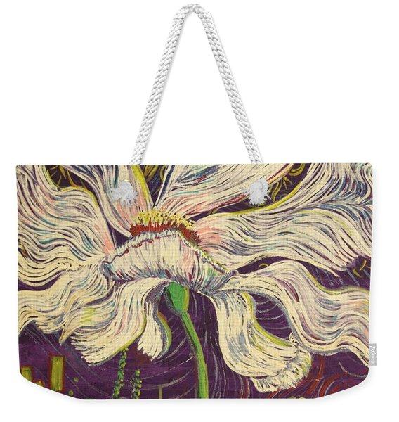 White Flower Series 6 Weekender Tote Bag
