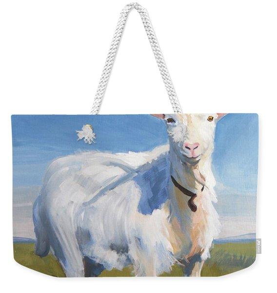 White Goat Weekender Tote Bag