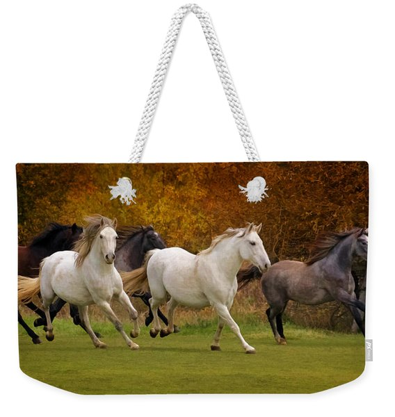 White Horse Vale Lipizzans Weekender Tote Bag