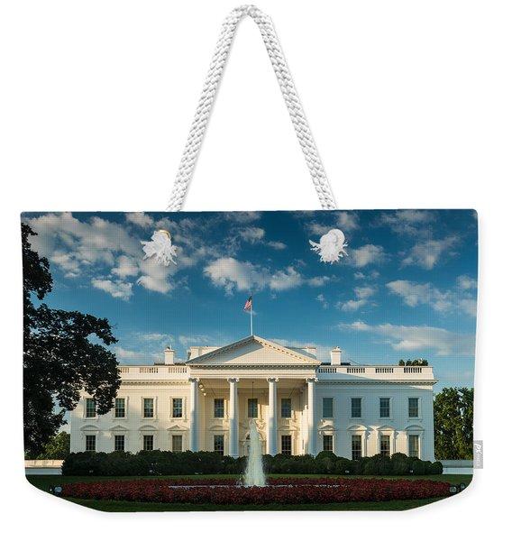 White House Sunrise Weekender Tote Bag