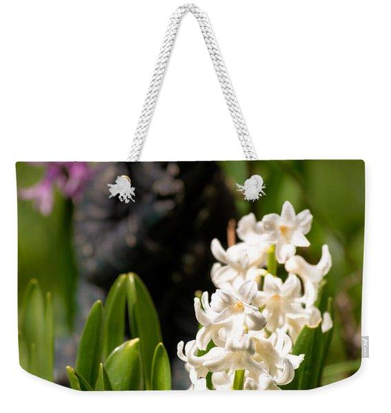 White Hyacinth In The Garden Weekender Tote Bag