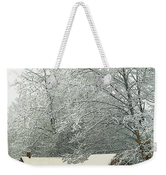 White Lace Weekender Tote Bag