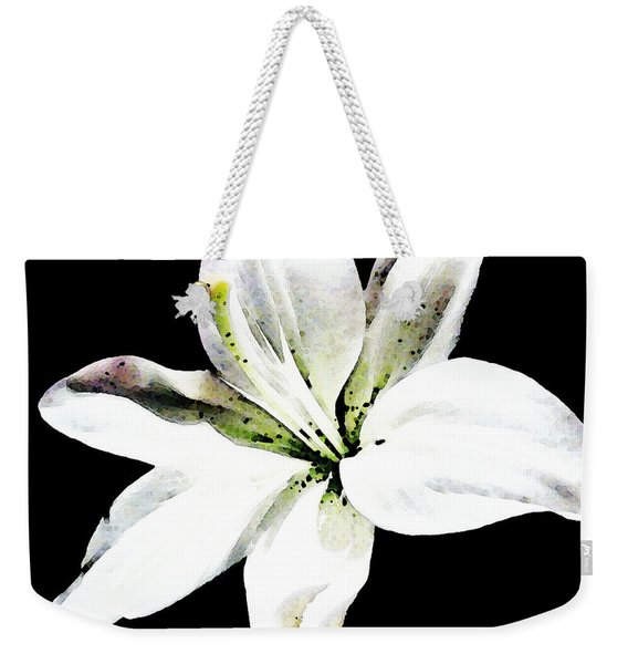White Lily - Elegant Black And White Floral Art By Sharon Cummings Weekender Tote Bag