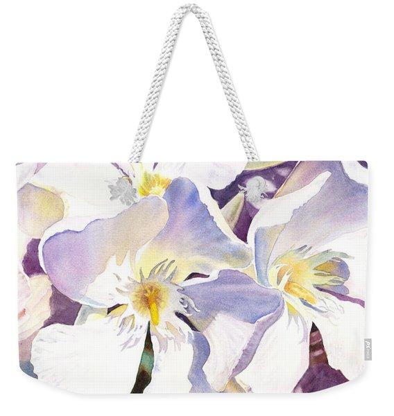 White Oleander Weekender Tote Bag