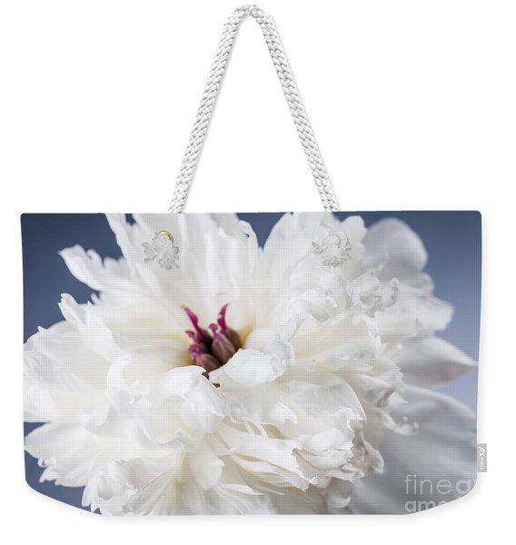White Peony Flower  Weekender Tote Bag