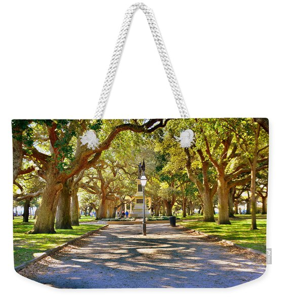 White Point Gardens At Battery Park Charleston Sc Hdr Weekender Tote Bag