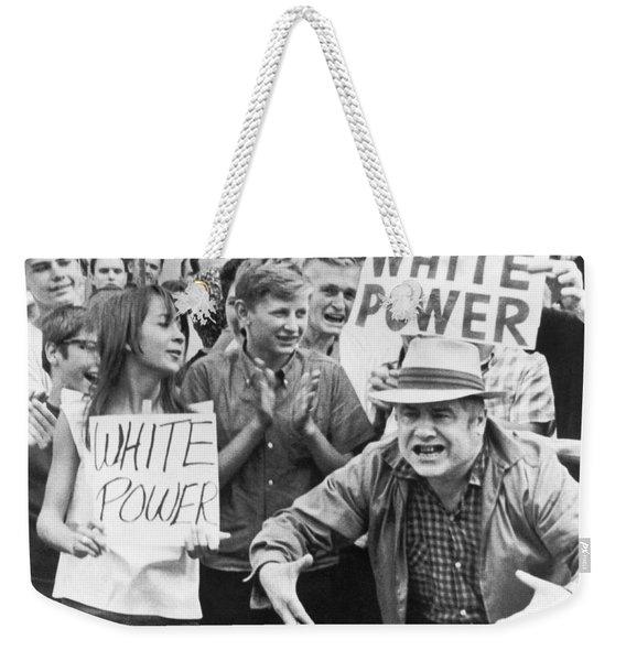 White Power Demonstrators Weekender Tote Bag