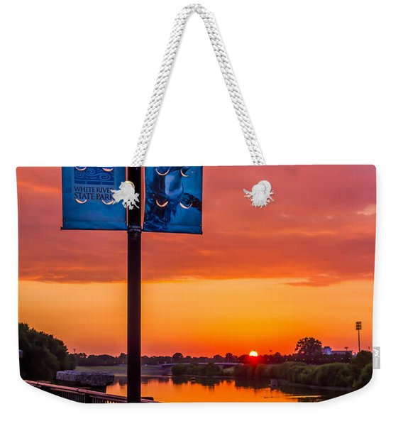 White River Sunset Weekender Tote Bag