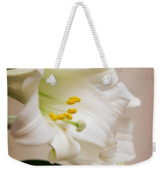 White Softness Weekender Tote Bag