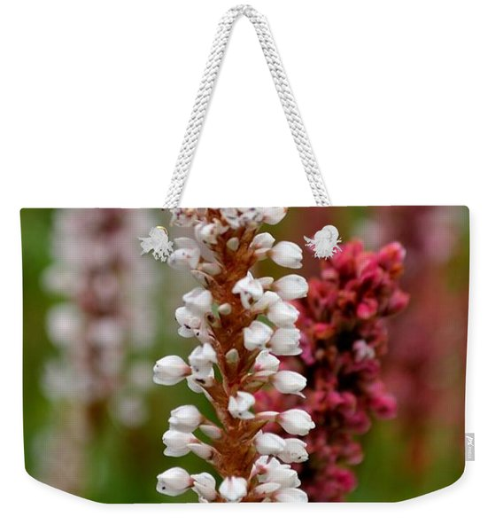 White Stalk Flower Weekender Tote Bag