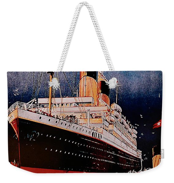 White Star Line Poster 1 Weekender Tote Bag