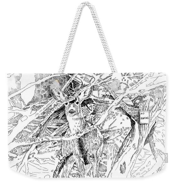 White-tail Encounter Weekender Tote Bag