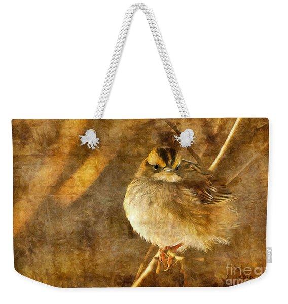 White Throated Sparrow Weekender Tote Bag