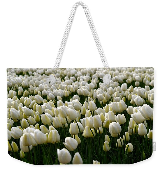 White Tulip Field  Weekender Tote Bag