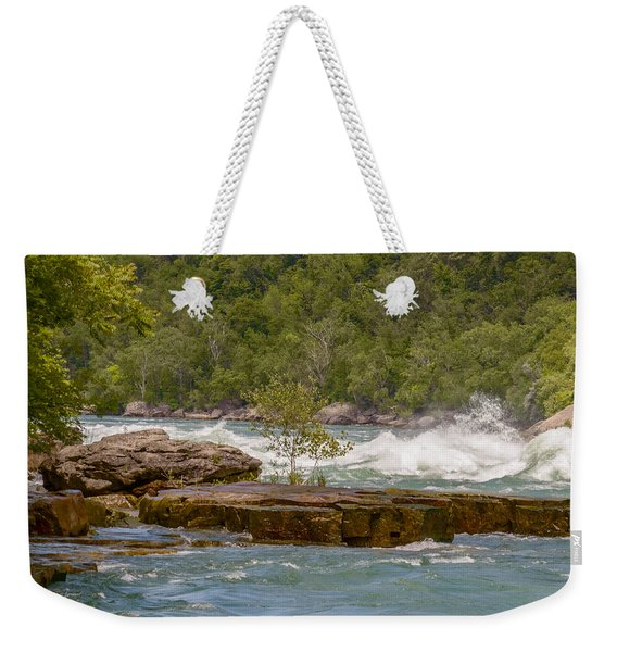 Weekender Tote Bag featuring the photograph White Water by Garvin Hunter