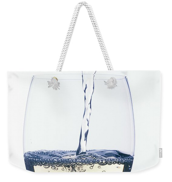 White Wine Pouring Weekender Tote Bag