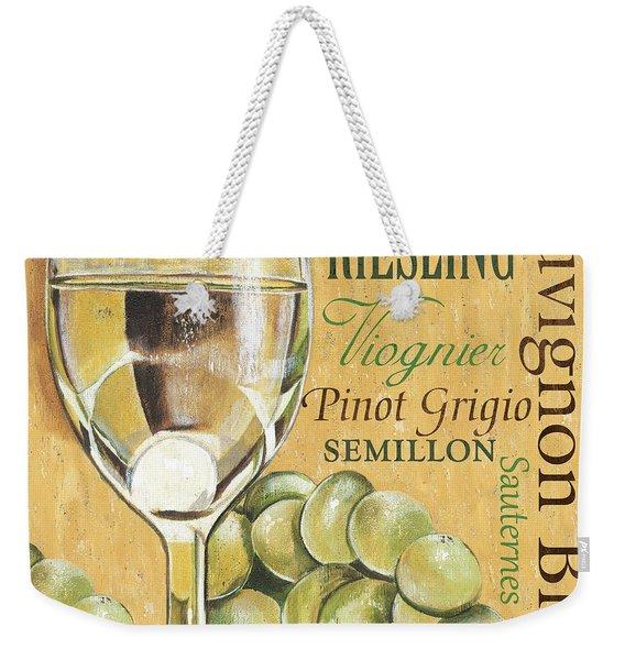 White Wine Text Weekender Tote Bag