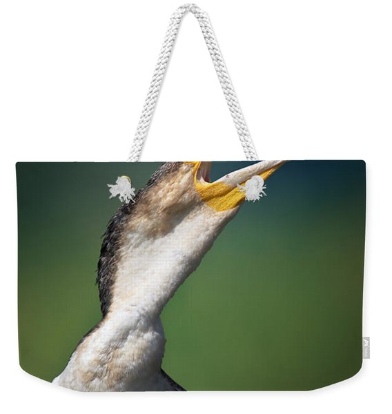 Whitebreasted Cormorant Weekender Tote Bag
