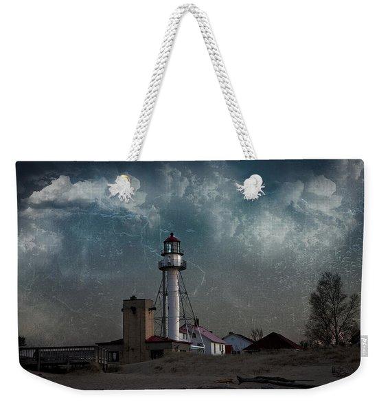 Whitefish Point Lighthouse Lake Superior Weekender Tote Bag