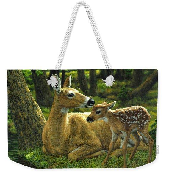Whitetail Deer - First Spring Weekender Tote Bag
