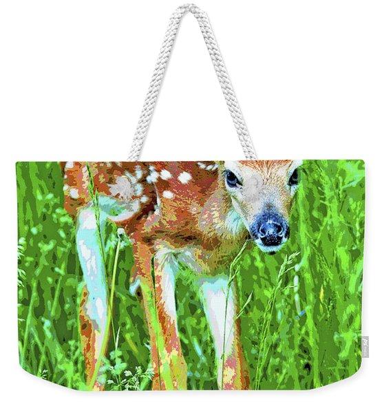 Whitetailed Deer Fawn Digital Image Weekender Tote Bag