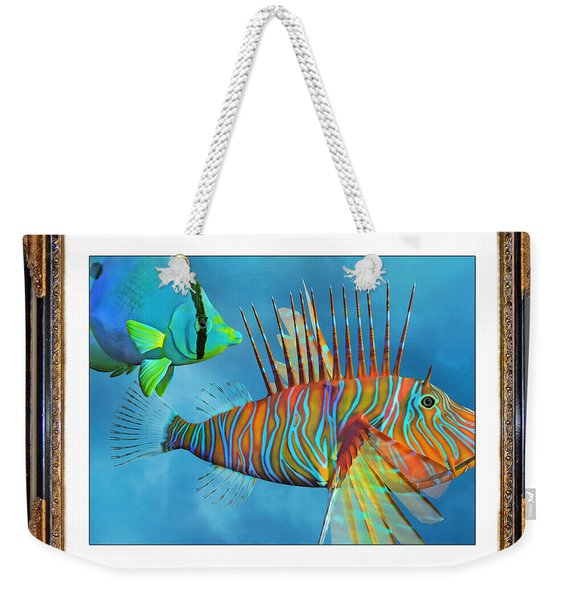 Who Framed The Fishes Weekender Tote Bag