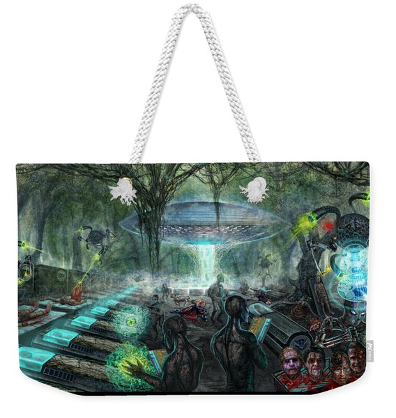 Who Is Controlling Who Weekender Tote Bag