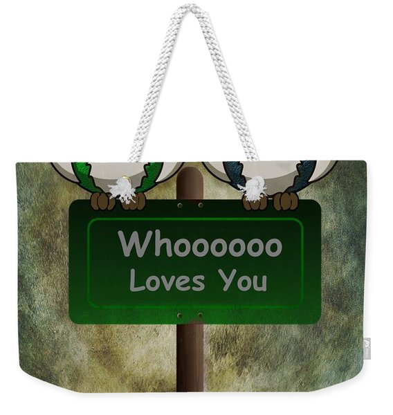 Whoooo Loves You  Weekender Tote Bag