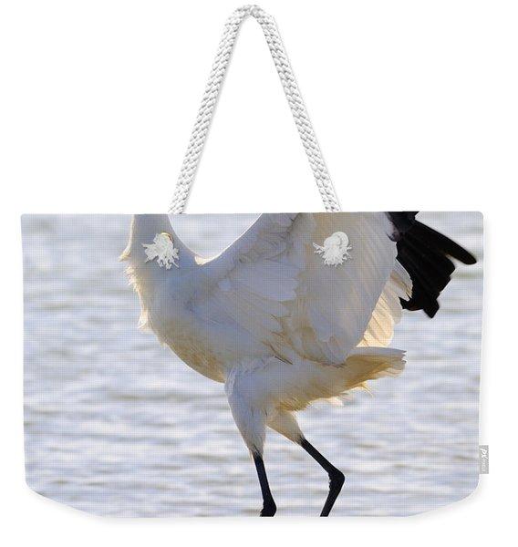 Whooping Crane - Whooping It Up Weekender Tote Bag