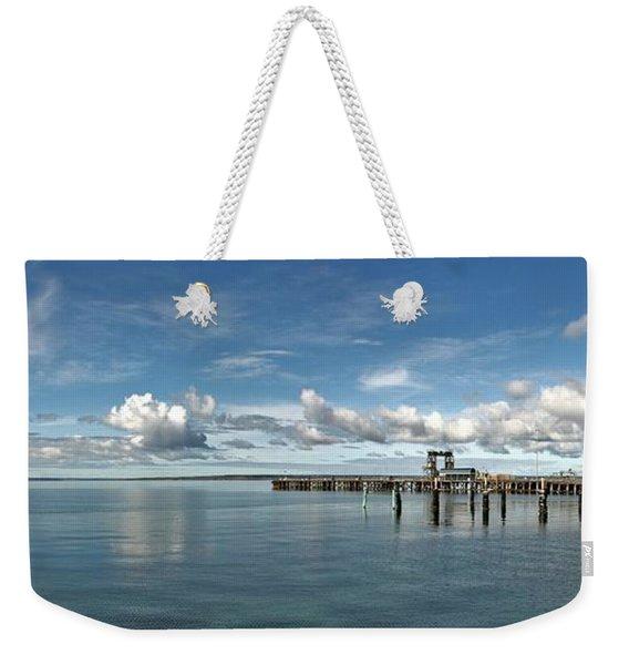 Wide View Of Kingscote Bay Weekender Tote Bag