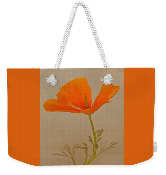 Wild California Poppy No 1 Weekender Tote Bag