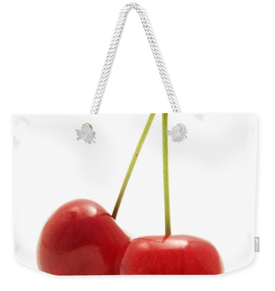 Wild Cherry Weekender Tote Bag