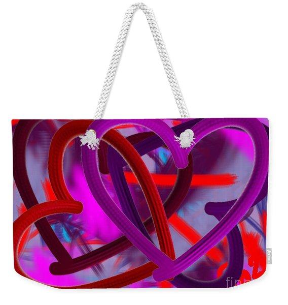Wild Hearts Weekender Tote Bag