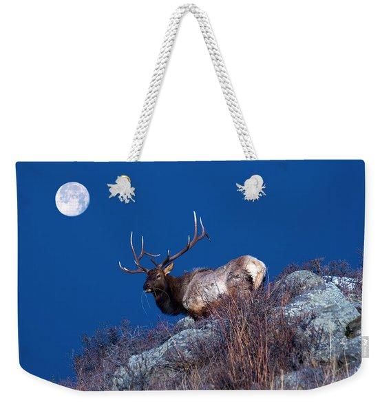 Wild Moon Weekender Tote Bag