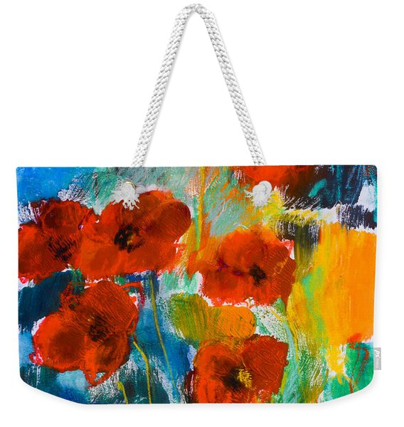 Wild Poppies Weekender Tote Bag