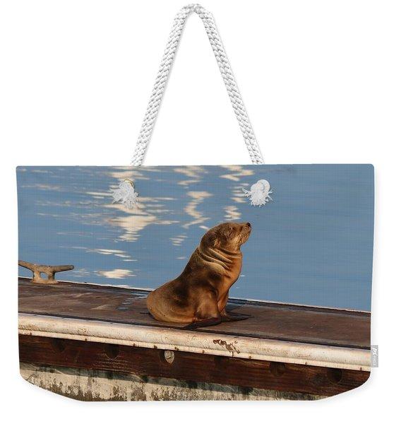 Wild Pup Sun Bathing Weekender Tote Bag
