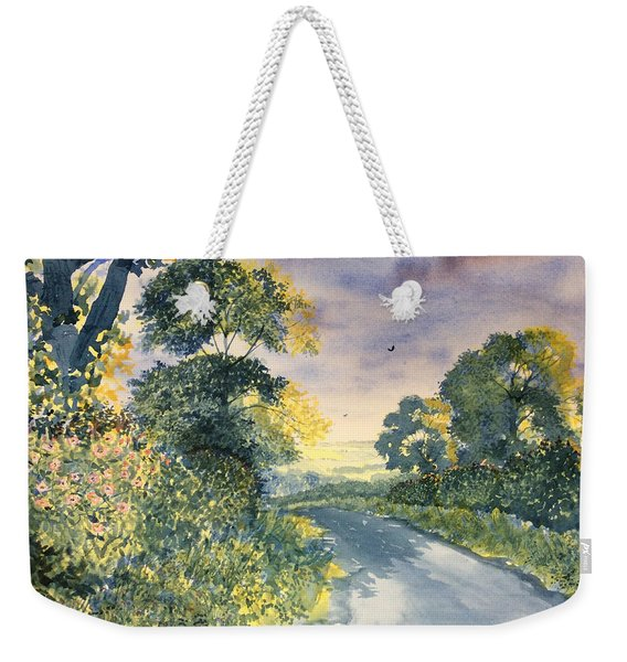 Wild Roses On The Wolds Weekender Tote Bag