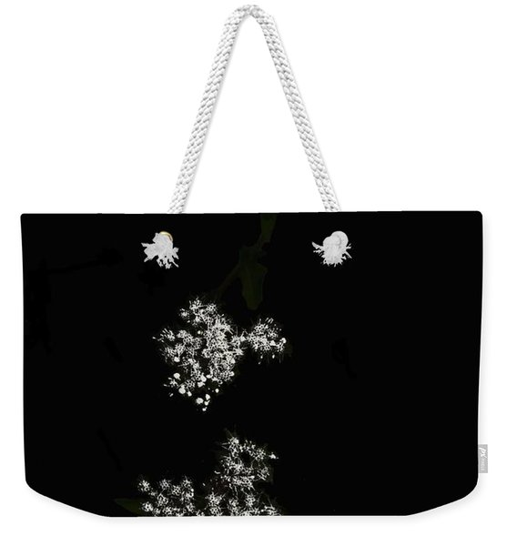Wildflower In Black Weekender Tote Bag