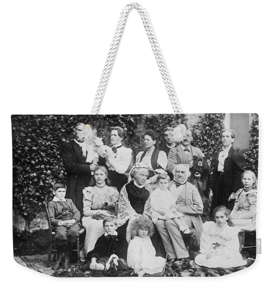 William Gladstone With Family Weekender Tote Bag