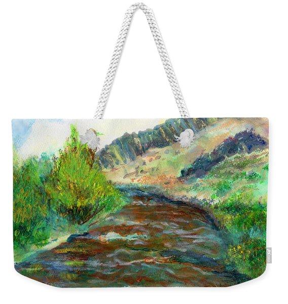 Willow Creek In Spring Weekender Tote Bag