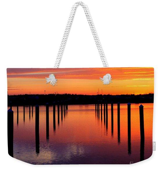 Winchester Bay Sunset Weekender Tote Bag