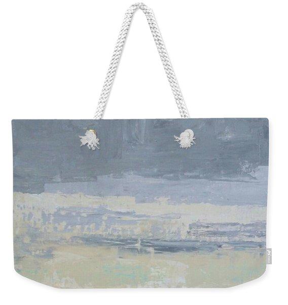 Wind And Rain On The Bay Weekender Tote Bag