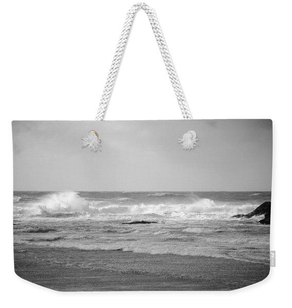 Wind Blown Waves Tofino Weekender Tote Bag