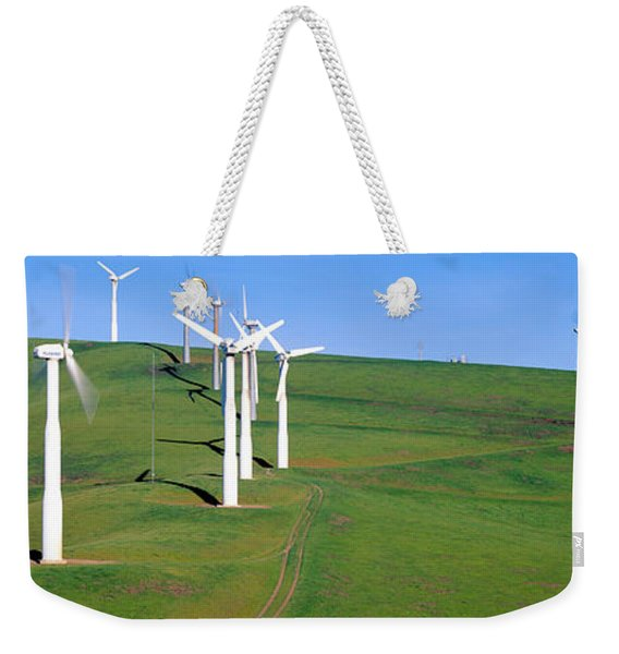 Wind Energy Windmills Along Route 580 Weekender Tote Bag