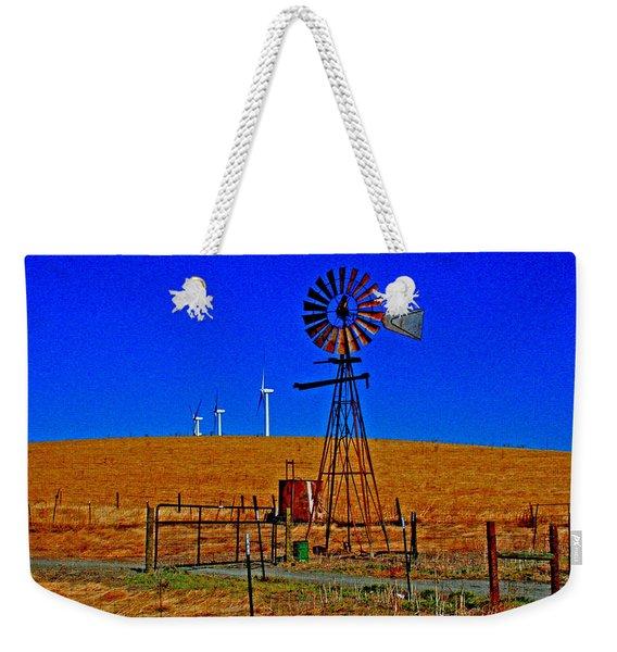 Wind Energy Yields Water And Power Weekender Tote Bag