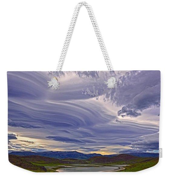 Wind Sculpture Weekender Tote Bag