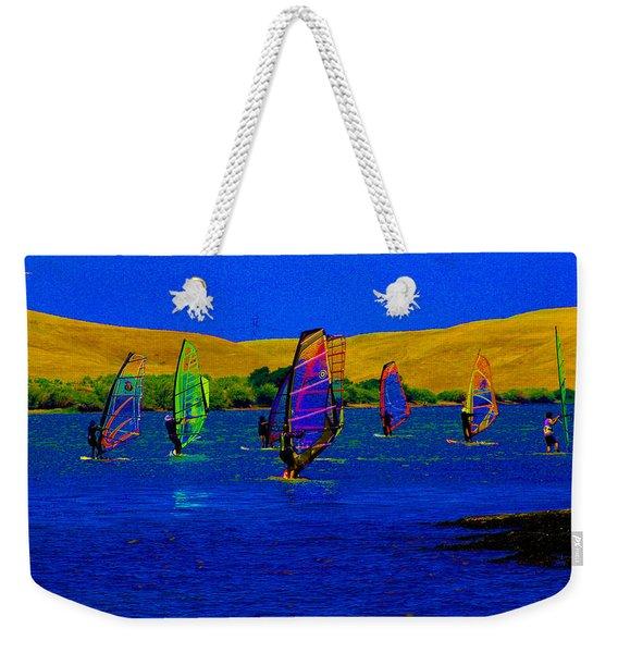 Wind Surf Lessons Weekender Tote Bag