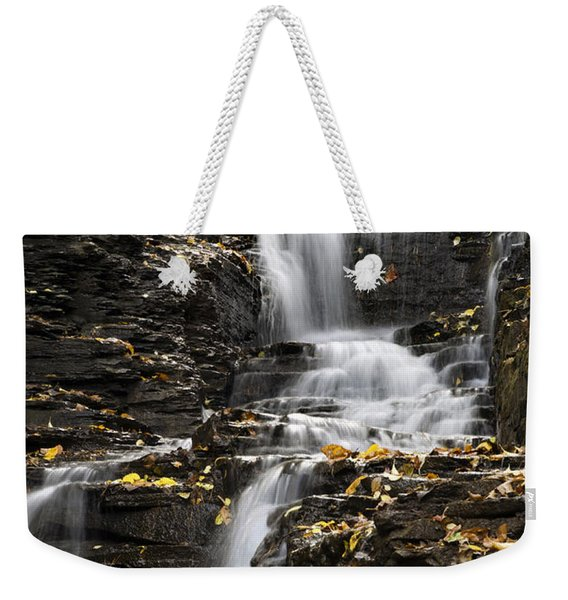 Winding Waterfall Weekender Tote Bag