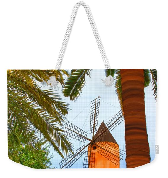 Windmill In Palma De Mallorca Weekender Tote Bag
