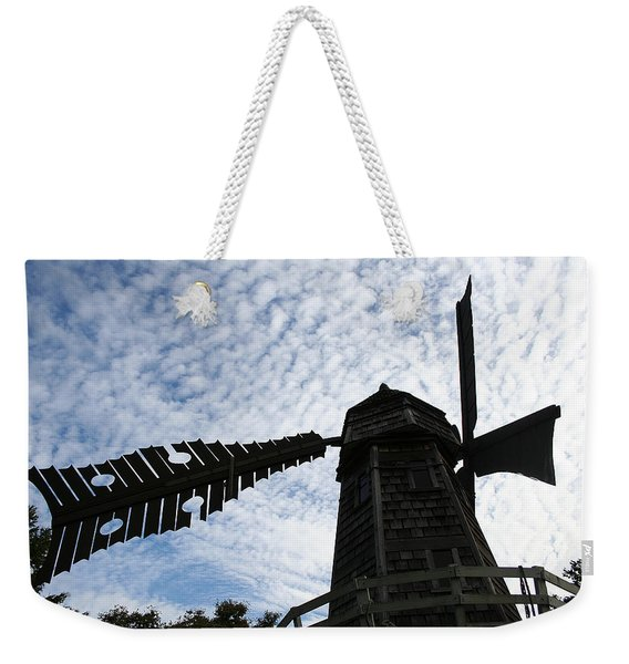 Weekender Tote Bag featuring the photograph Windmill On A Cloudy Day by William Selander